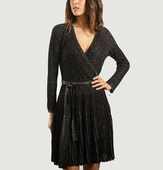 Lurex Wrap Dress