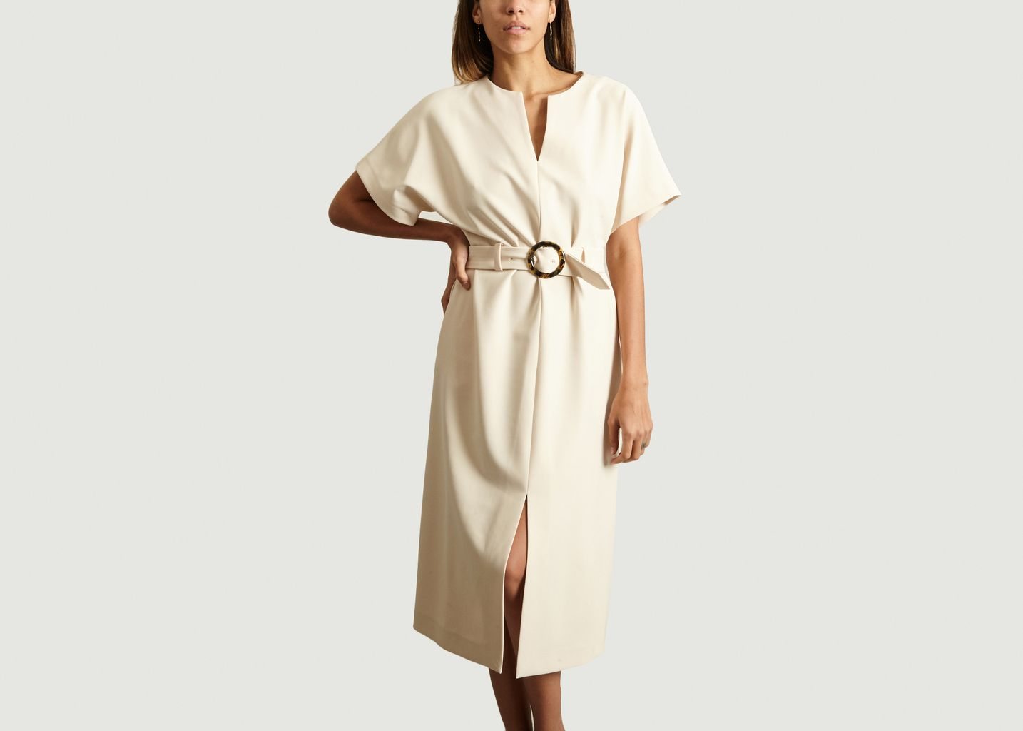 Robe Ceinturée Fendue - Tara Jarmon