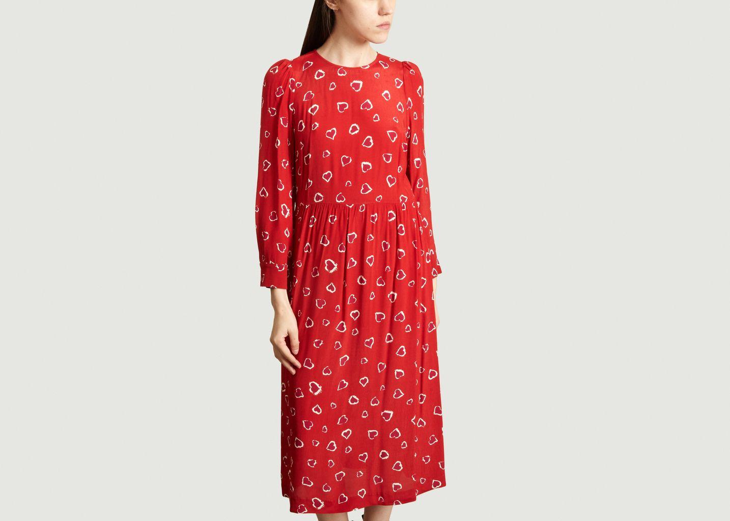 Printed Dress Red Tara Jarmon L Exception