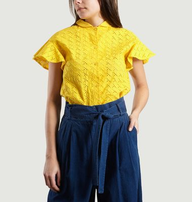 Chemise Manches Courtes A Broderie Anglaise