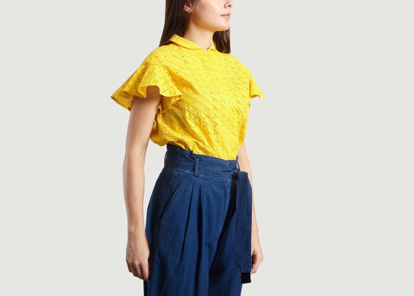 Chemise Manches Courtes A Broderie Anglaise - Tara Jarmon