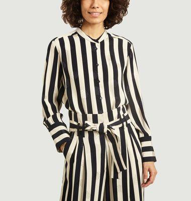 Chemise rayée avec motif coquillages