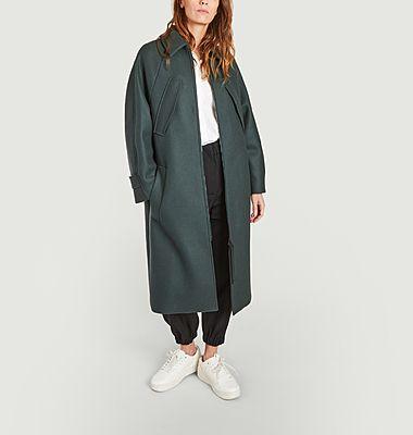 Giunco zipped long coat