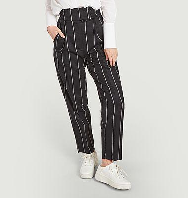 Pantalon rayé Wow