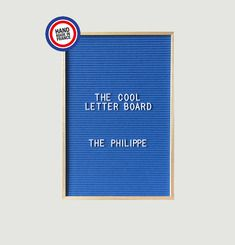 The Philippe Letter Board