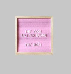 The Noel Letter Board