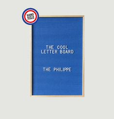 Letter Board The Philippe