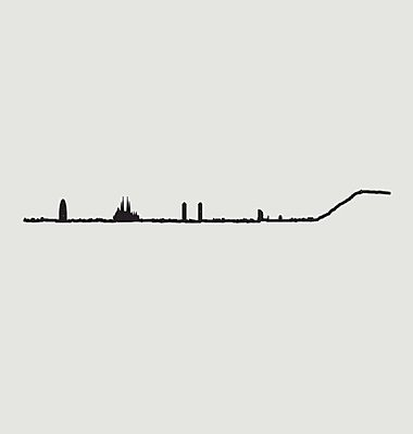 Silhouette von Barcelona