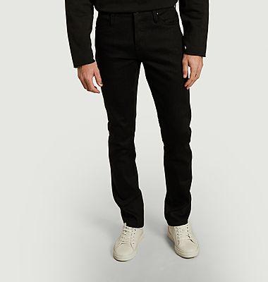 Jean Skinny Solid Black Stretch Selvedge