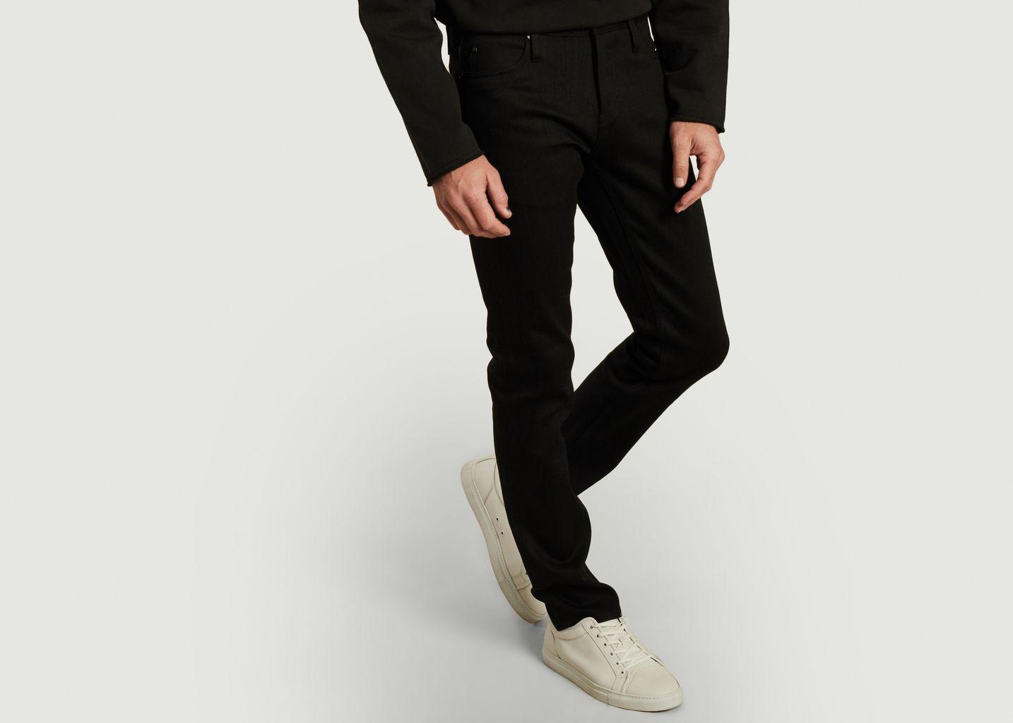 Jean Skinny Solid Black Stretch Selvedge - The Unbranded Brand