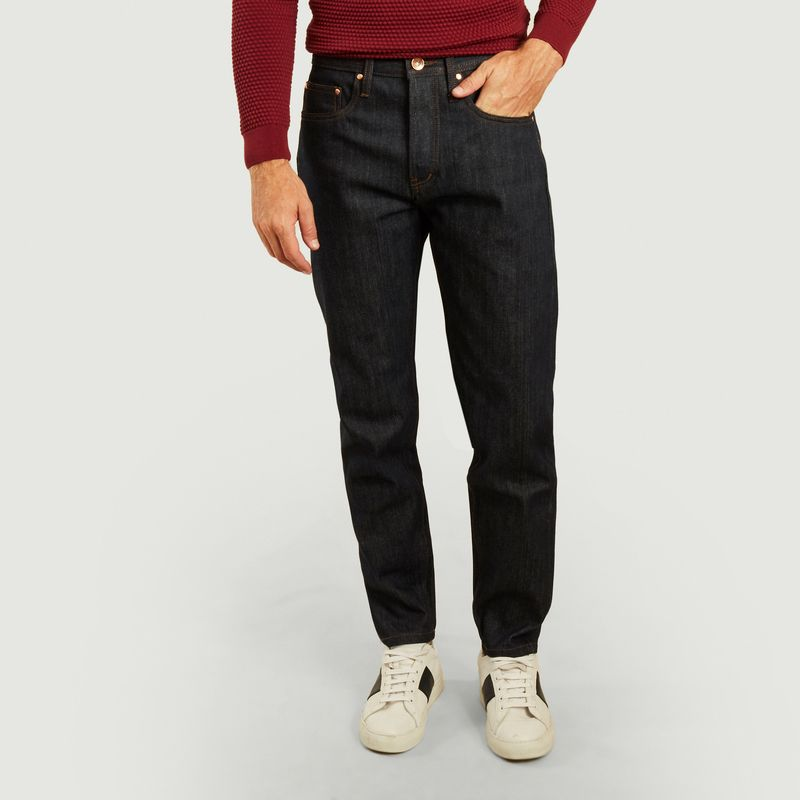 Jean UB601 relaxed tapered 14.5oz indigo selvedge - The Unbranded Brand