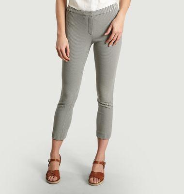 Pantalon Skinny 7/8e Pied De Poule