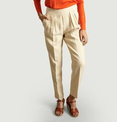 Linen Darted Trousers