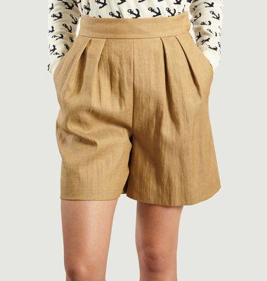 Short Taille Haute En Lin