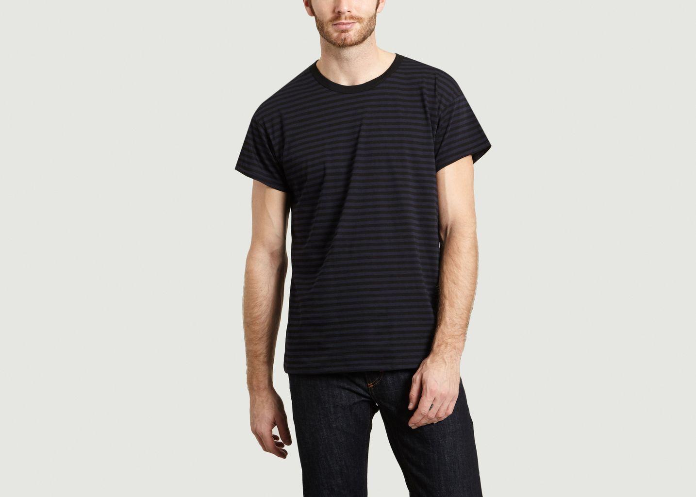 T-Shirt Sunset Stripe - The White Briefs