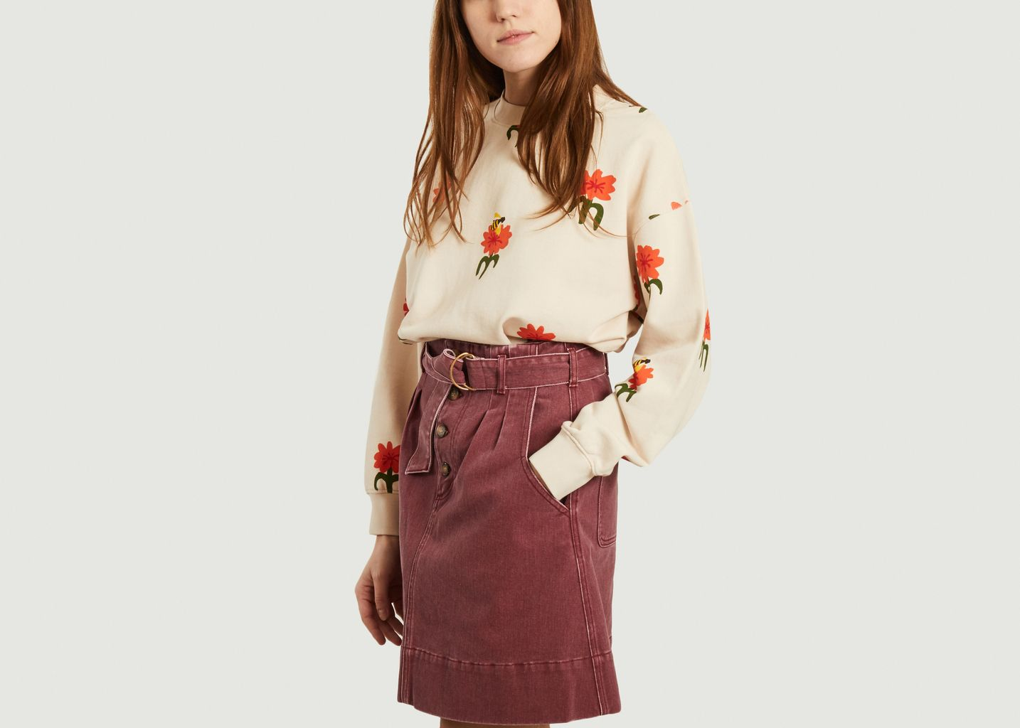 Sweatshirt Carnations - Thinking Mu
