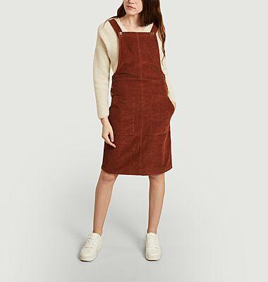 Glocken-Cord-Jumpsuit-Kleid