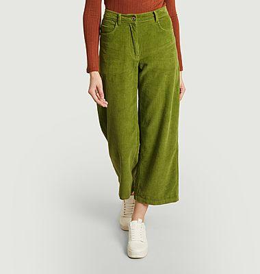 Pantalon ample 7/8e en velours côtelé Elephant