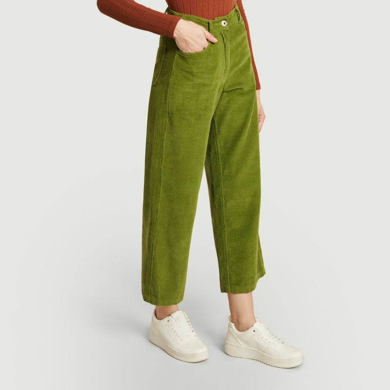 Pantalon ample 7/8e en velours côtelé Elephant - Thinking Mu