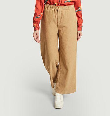 Pantalon ample en velours côtelé de coton bio Maia