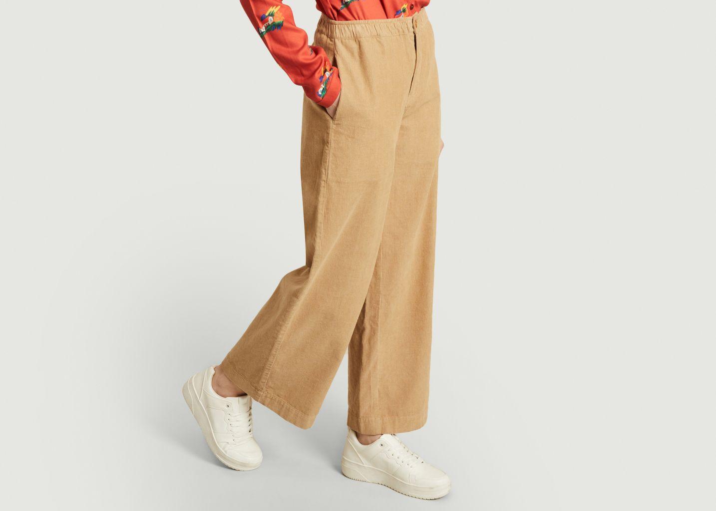 Pantalon ample en velours côtelé de coton bio Maia - Thinking Mu