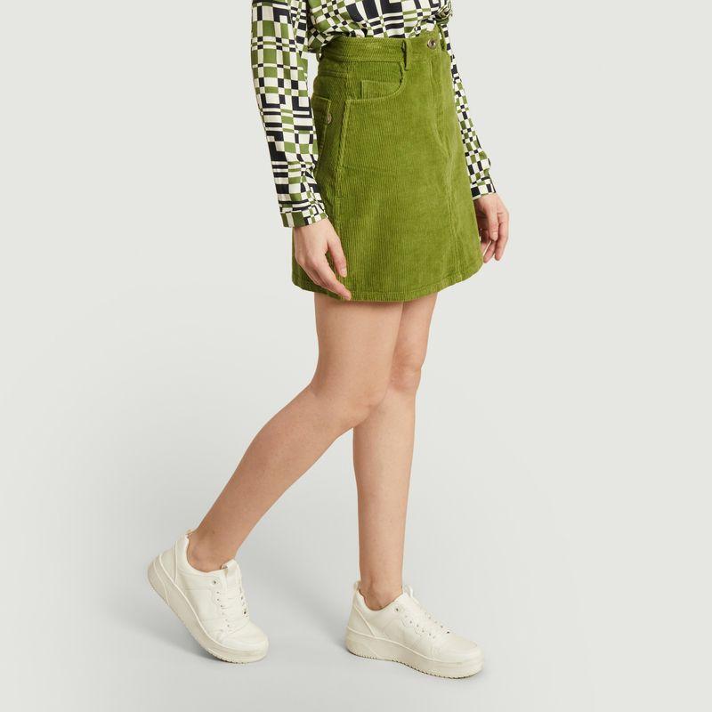 Jupe courte en velours côtelé de coton bio Marsha - Thinking Mu