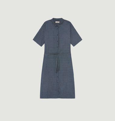 Robe imprimé carreaux en coton biologique