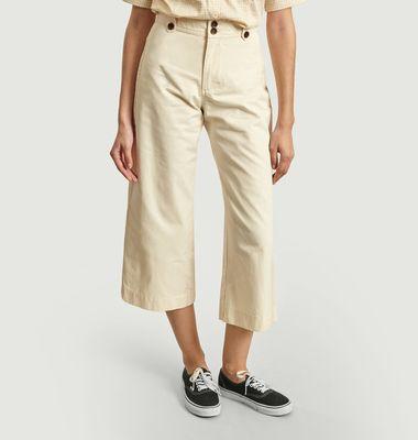 Pantalon large 7/8e en coton bio