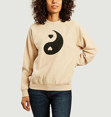 Sweatshirt Ying & Yang en coton biologique