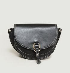 Gigi Leather Saddle Bag