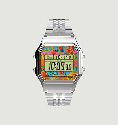 Montre à bracelet en acier inoxydable Timex T80 x Coca-Cola Unity Collection