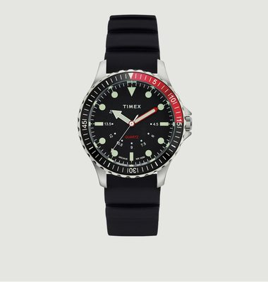 Navi Depth Watch Steel Black