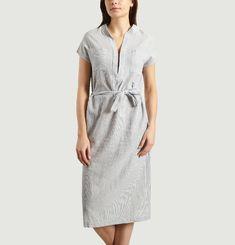 Robe-Tunique Rayée A Poches Marika