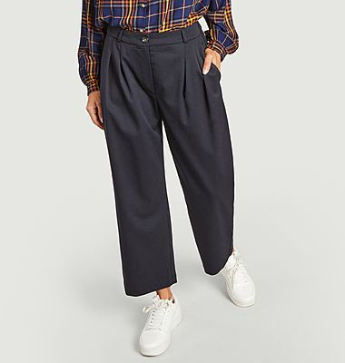 Pantalon large à pinces Pepa