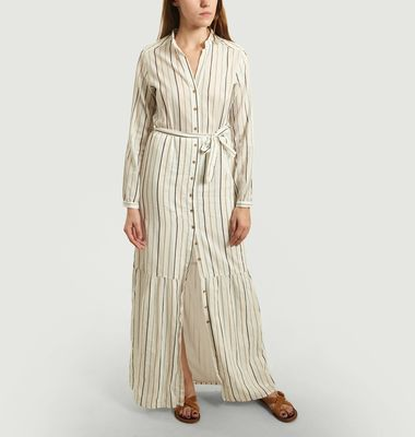 Ofra Long Striped Shirt-Dress