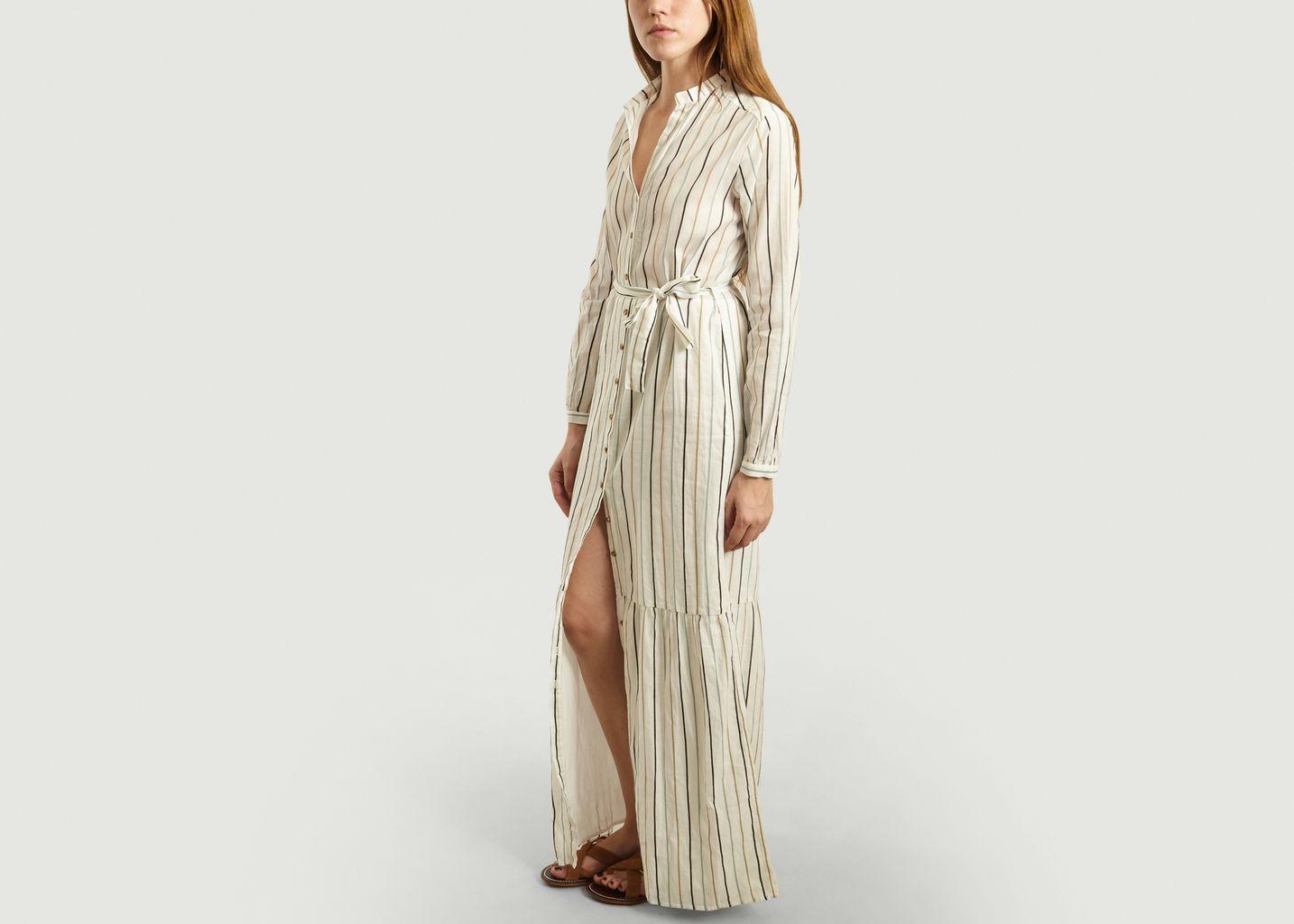 Robe-Chemise Longue Rayée Ofra - Tinsels