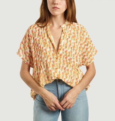 Oki Floral Pattern Short Sleeves Shirt