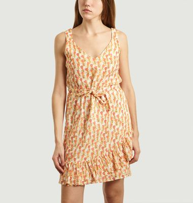 Oriane Floral Pattern Ruffle Dress