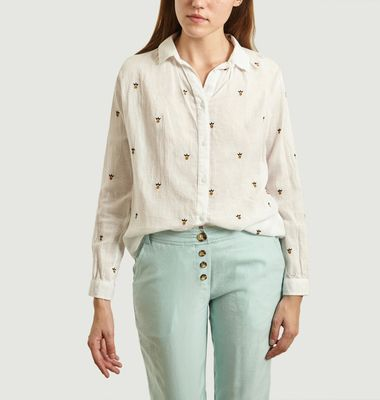 Onawa Pineapple Pattern Cotton Shirt