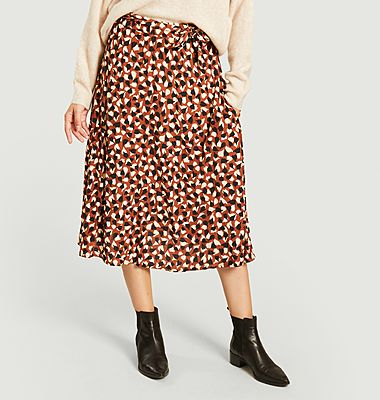 Patti Colchique printed midi skirt