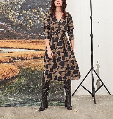 Robe-chemise en soie imprimée Patsy Pivoines