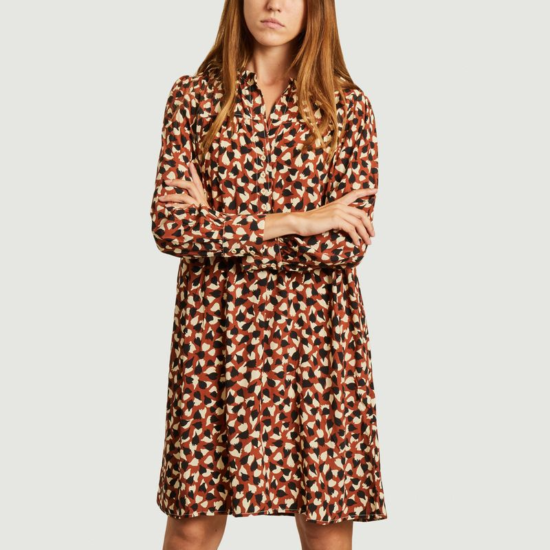 Robe-chemise manches longues Peggy Colchique - Tinsels
