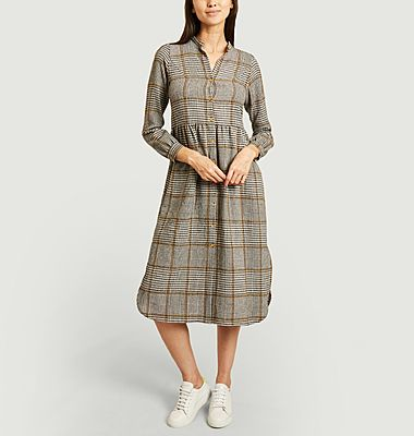 Robe-chemise motif prince-de-Galles Noam Dylan
