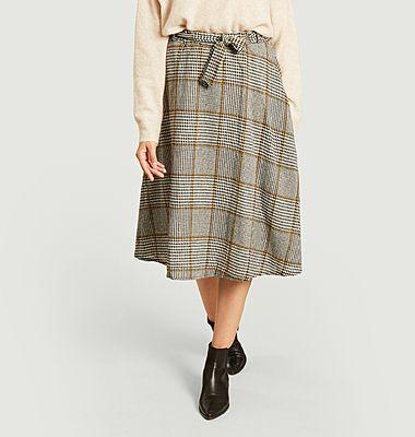 Patti Dylan checked midi skirt