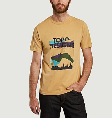 T-shirt imprimé en coton bio Red Mountain