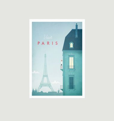 A2 Paris Travel Poster