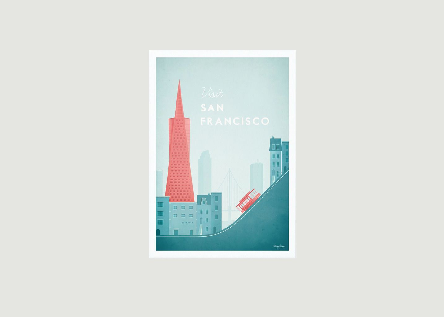 Travel Poster San Francisco A2 - Travel Poster co