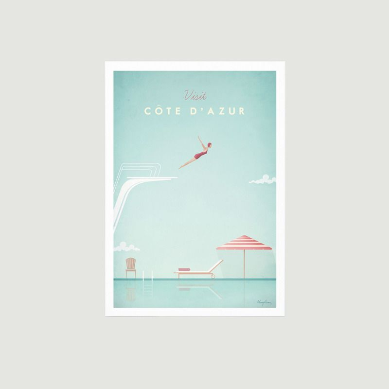 Travel Poster Côte d'Azur A3 - Travel Poster co