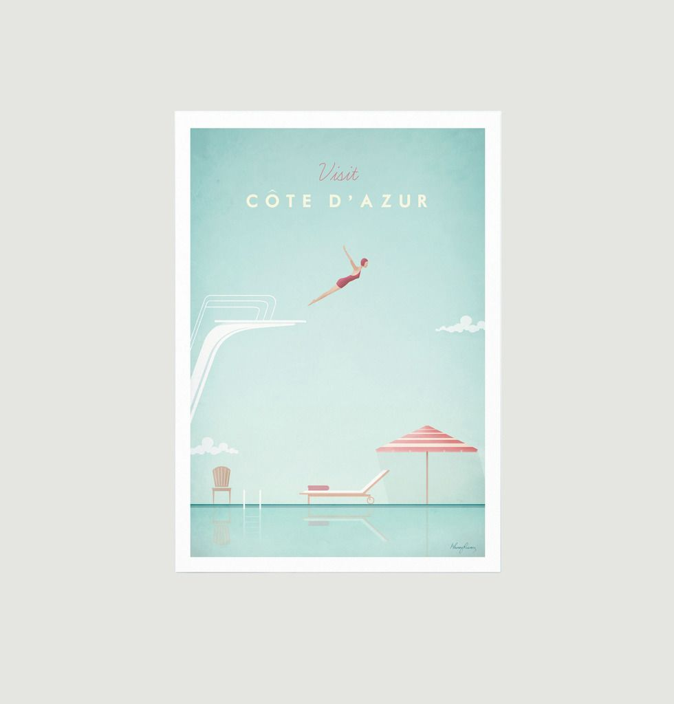 Vintage BEA Flights to Greece Poster A3 Print