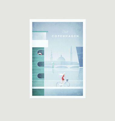 Travel Poster Copenhagen A2